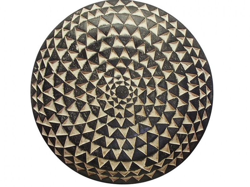 African Carved Wood Shield
