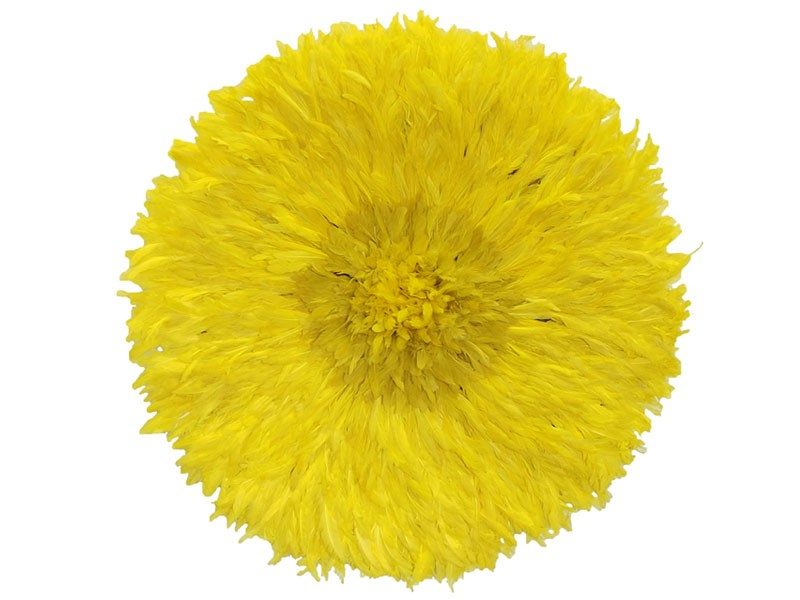 Juju Feather Hat Yellow 80cm
