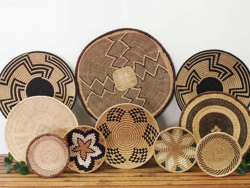 Set of 10 Assorted African Baskets