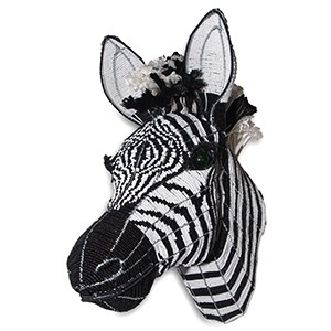 Bead and Wire Rope Zebra Wall Hanging