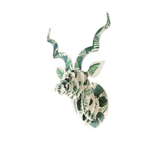 Luscious Leaf Kudu Head