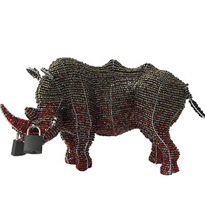 Locked Horn Rhino Small