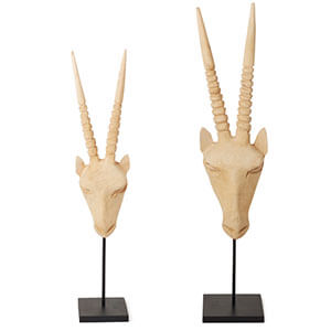 Wood Gemsbok Head - Natural