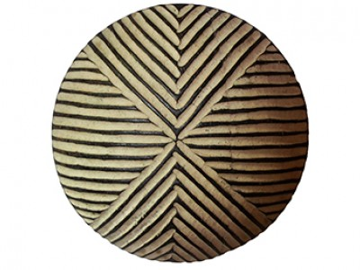 30cm Small Carved Wood Shield - Triangle