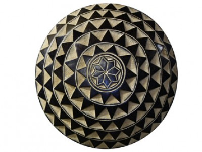 African Carved Wood Shield -1