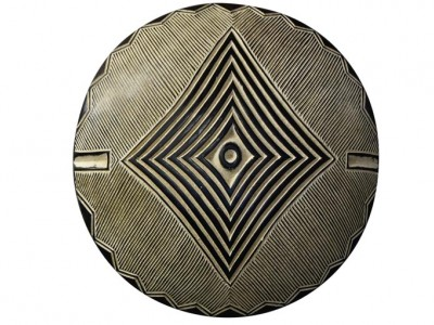African Carved Wood Shield - 5
