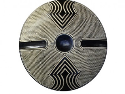African Carved Wood Shield - 6