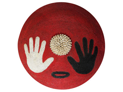 Large Beaded Shield - Hands