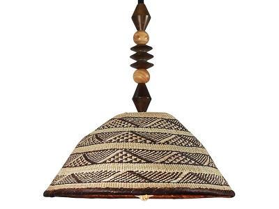 African Basket Lampshade - 5 bead