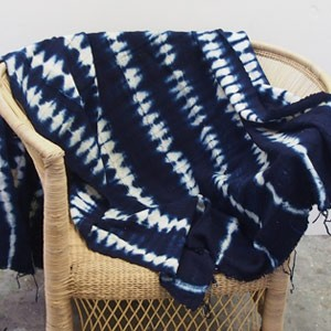 Indigo tie-dye Bogolan Mud Cloth - Navy design 2