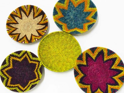 5 Piece African Basket Set - 15 -