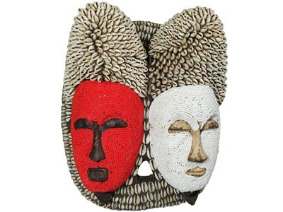 Bead and Cowrie Shell Mask - Union of two