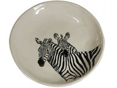 Handmade Ceramic Safari Zebra Bowl